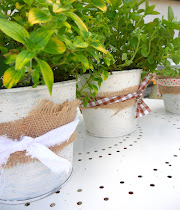 shabby chic pots