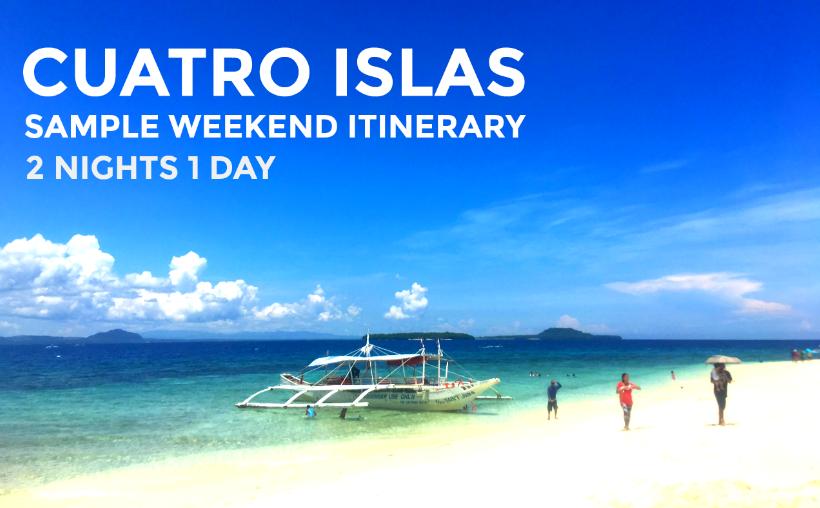 Cebu City to Cuatros Islas Sample Itinerary 2N1D