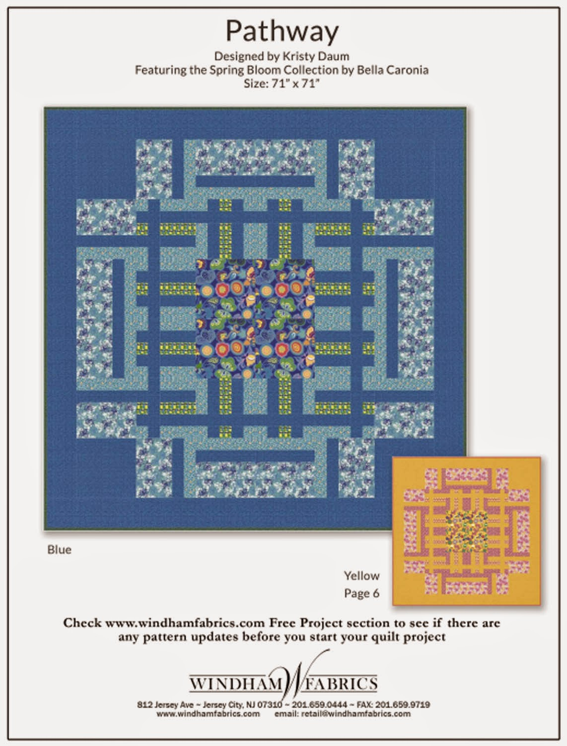 PATHWAY Free Quilt Pattern