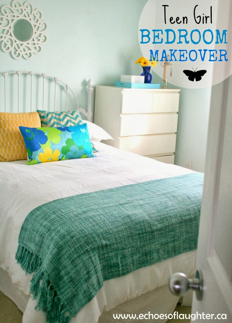 Teen Girl Bedroom Makeover - Echoes of Laughter