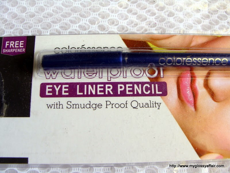 Coloressence Water Proof Eyeliner Pencil in Dark Blue - Review and Swatches