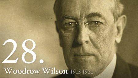 WOODROW WILSON 1913-1921