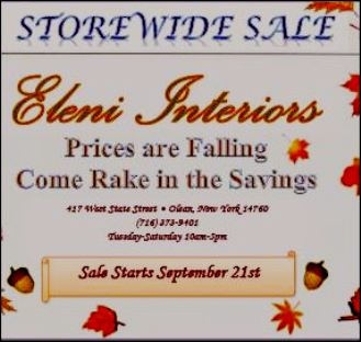 Eleni Interiors Storewide Sale