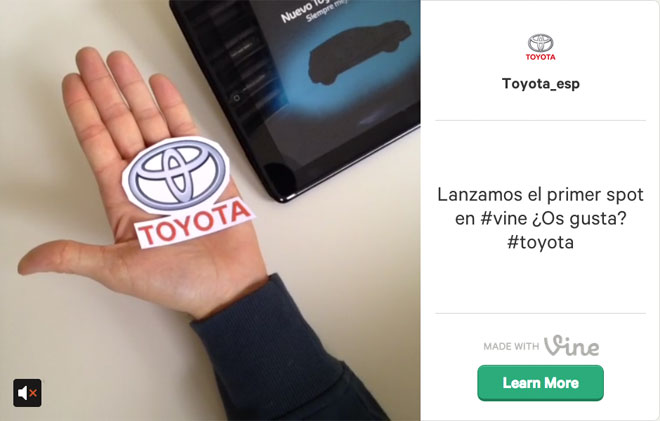 Toyota Vine Twitter