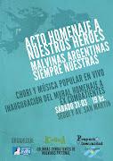 SABADO 31-03 19 HS. SEGUÍ Y AV. SAN MARTIN proyecto comunidad malvinas