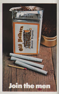 Vintage advertisement for Old Holborn tobacco, c.1960's