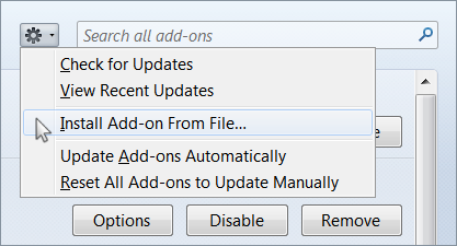 Install Add-on From File
