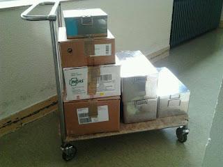 Imagen con material sacado del quirófano del Hospital. Facebook de la plataforma sanitaria Béjar