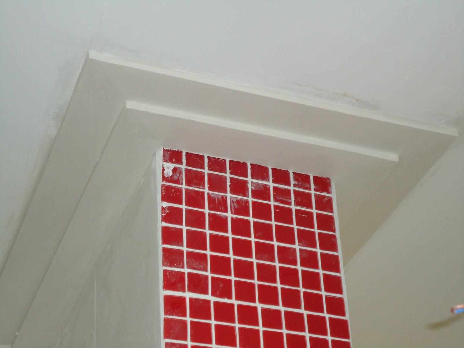 Canto da Mi: Gesso #9B1F22 1600x1200 Banheiro Com Moldura De Gesso
