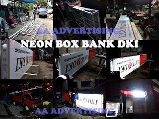 Pembuatan Neon Box Acrylic Bank DKI