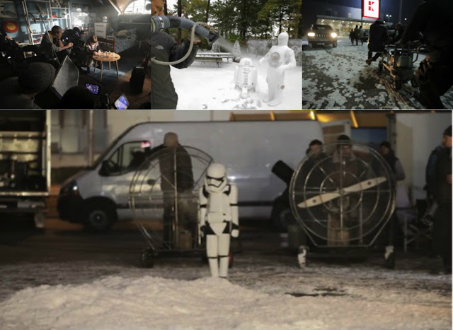 Backstage Bilder zum Kaufland Star Wars Image Film - Stormtrooper Kostüm aus Plastik-Milchflaschen nachgebaut