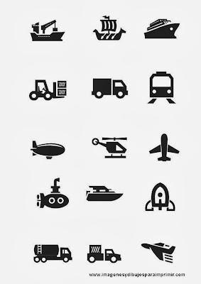 Imprimir transportes en blanco y negro