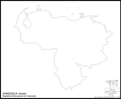 Mapa mudo de VENEZUELA, silueta