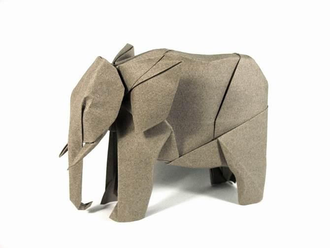 origami gajah afrika