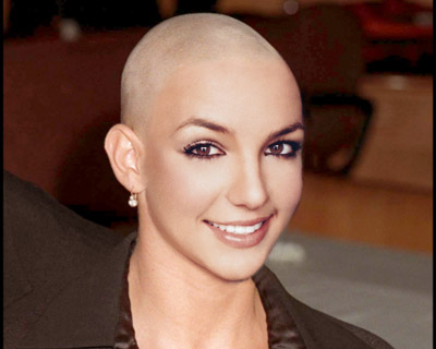 Britney Spears Bald Hollywood Makeup