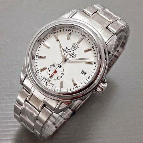 Rolex Oyster Chrono Detik Chain silver putih