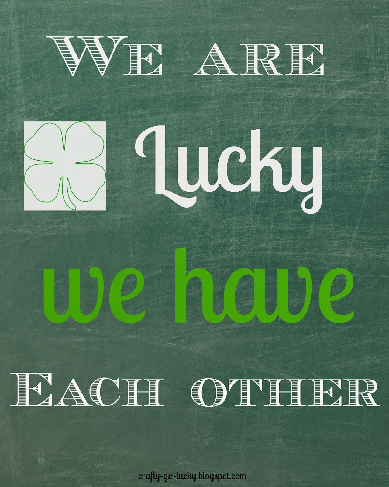 Free St. Patty's Day Home decor Printable's! (8x10)