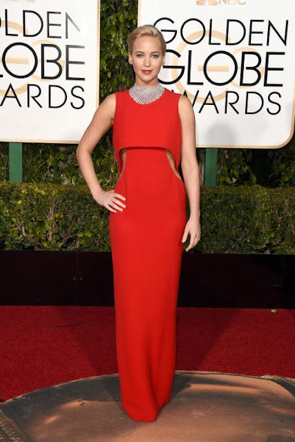 Jennifer Lawrence Dior  Golden Globes 2016