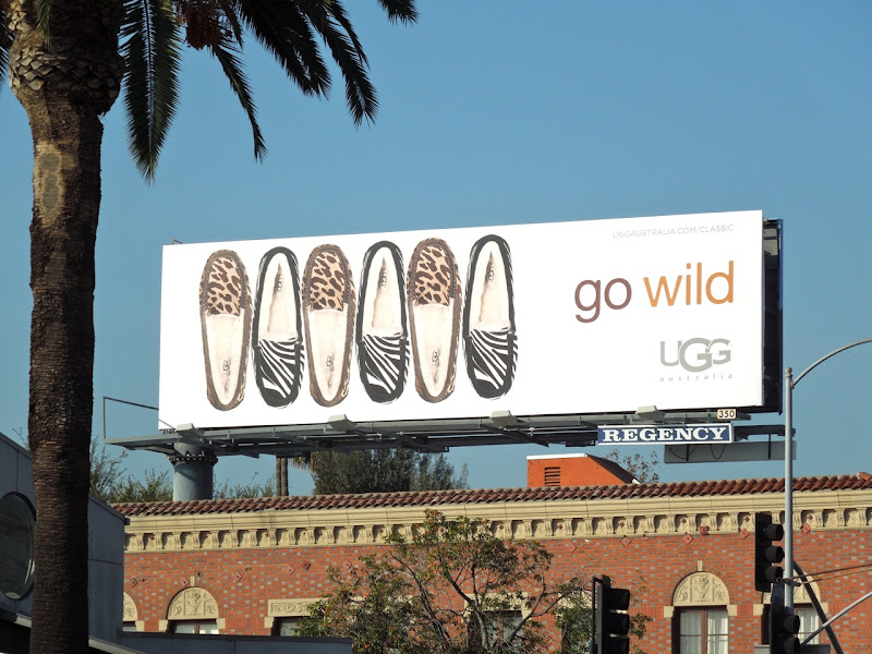 UGG animal print slippers billboard