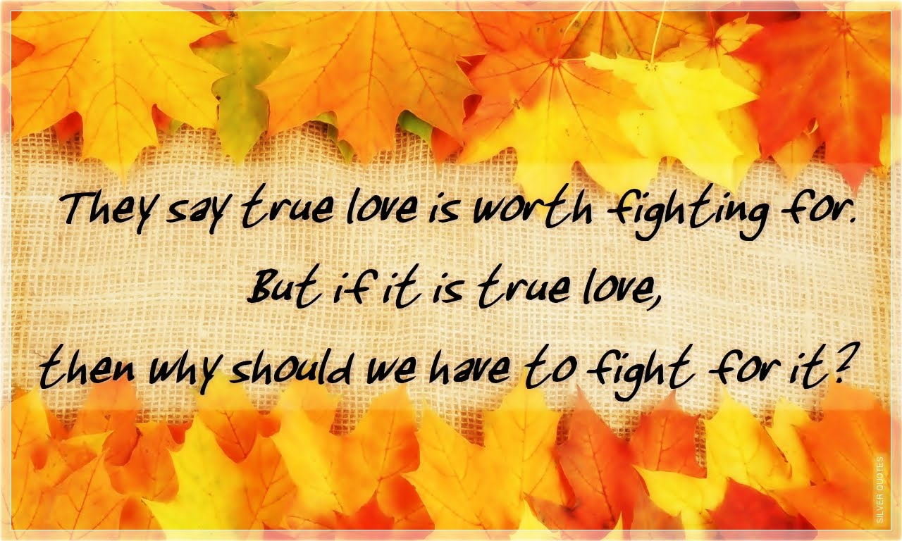 Inspirational Quotes About Friendships They Say True Love Is Worth Fighting For  Silver Quotes
