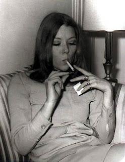 Diana Rigg Smoking