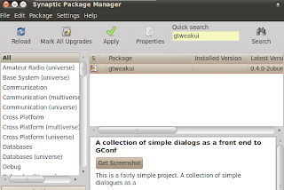 download gtweakui from synaptic package manager