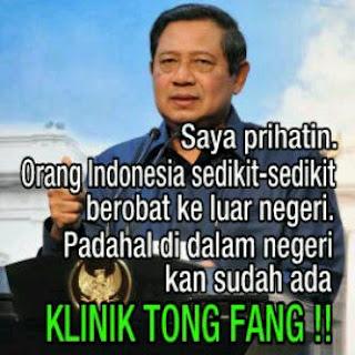 Plesetan SBY Lucu Klinik Tong Fang