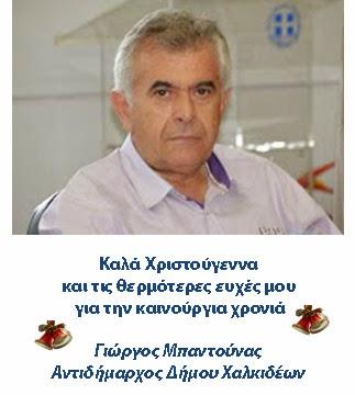 Γιώργος Μπαντούνας Αντιδήμαρχος Δήμου Χαλκιδέων