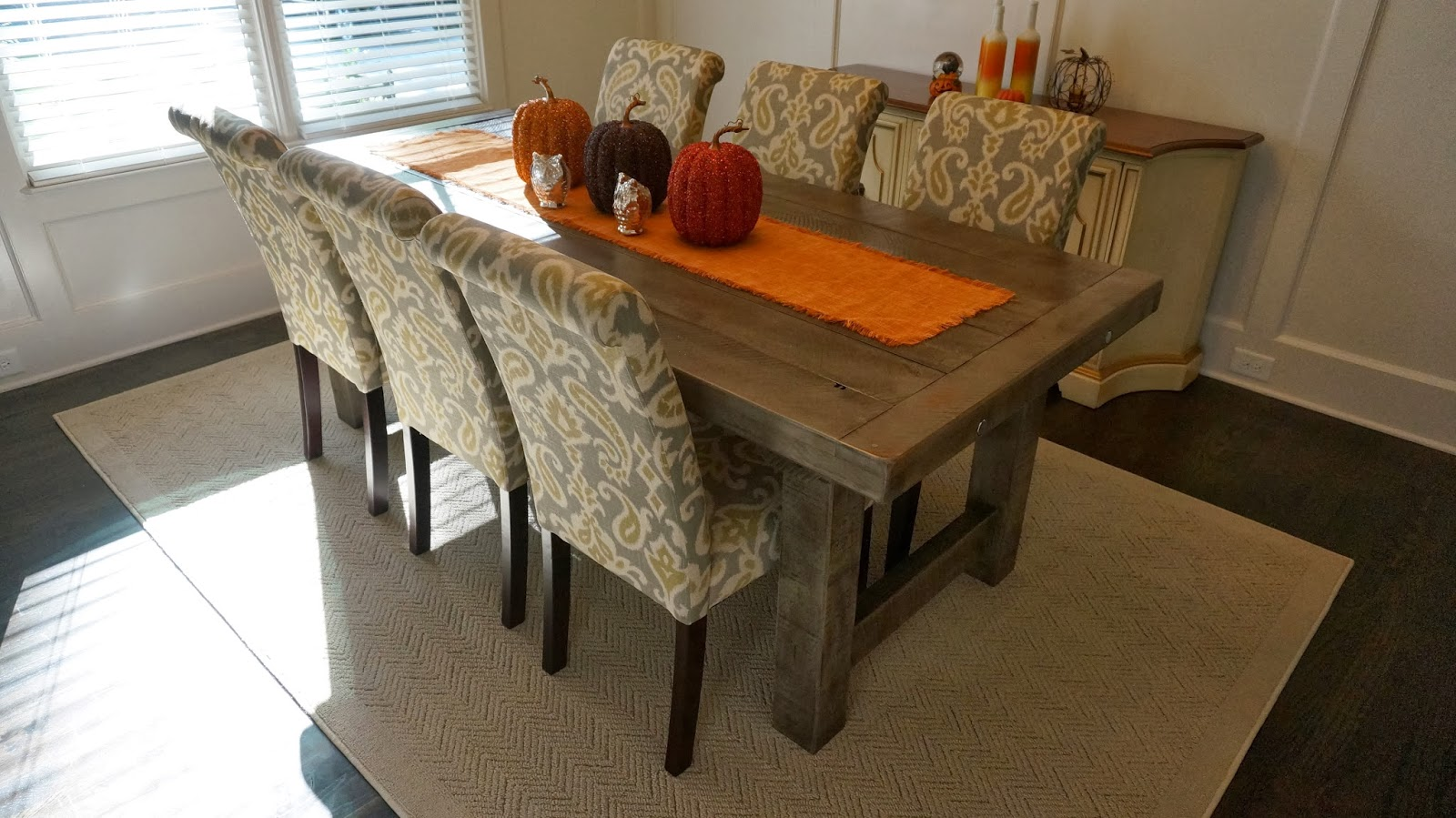 Clayton farm table custom handcrafted rustic trades for Rustic dining room table