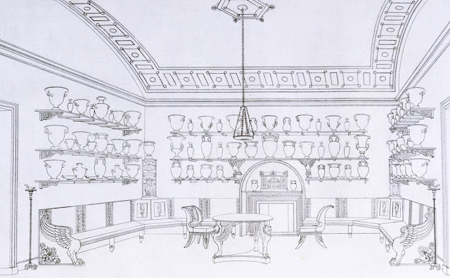 'The Vase Room', Plate 4, 'Household Furniture & Interior Decoration', by Thomas Hope, London, UK, 1807