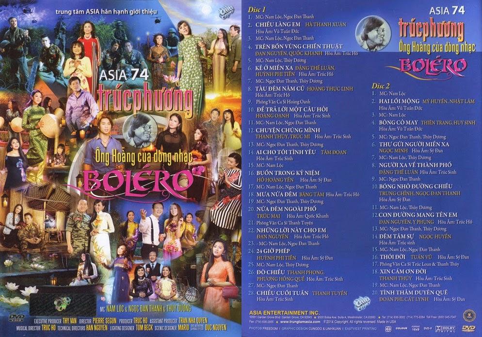 Liveshow Asia 74: Trúc Phương, Ông Hoàng Của Dòng Nhạc Bolero