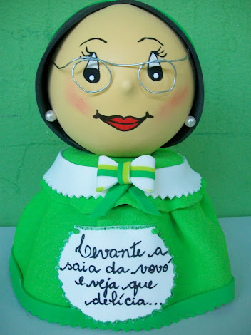 POTE DECORADO VOVÓ (EM EVA)