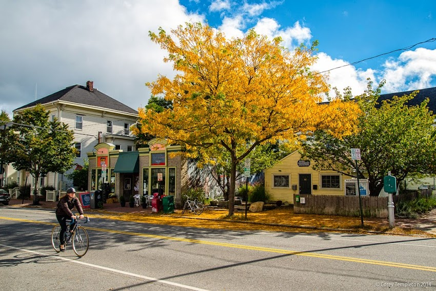 Portland, Maine in October 2014 Munjoy Hill Congress Street foliage photo by Corey Templeton