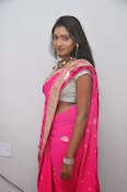 Actress Nisha Latest Photos in Pink saree-thumbnail-12
