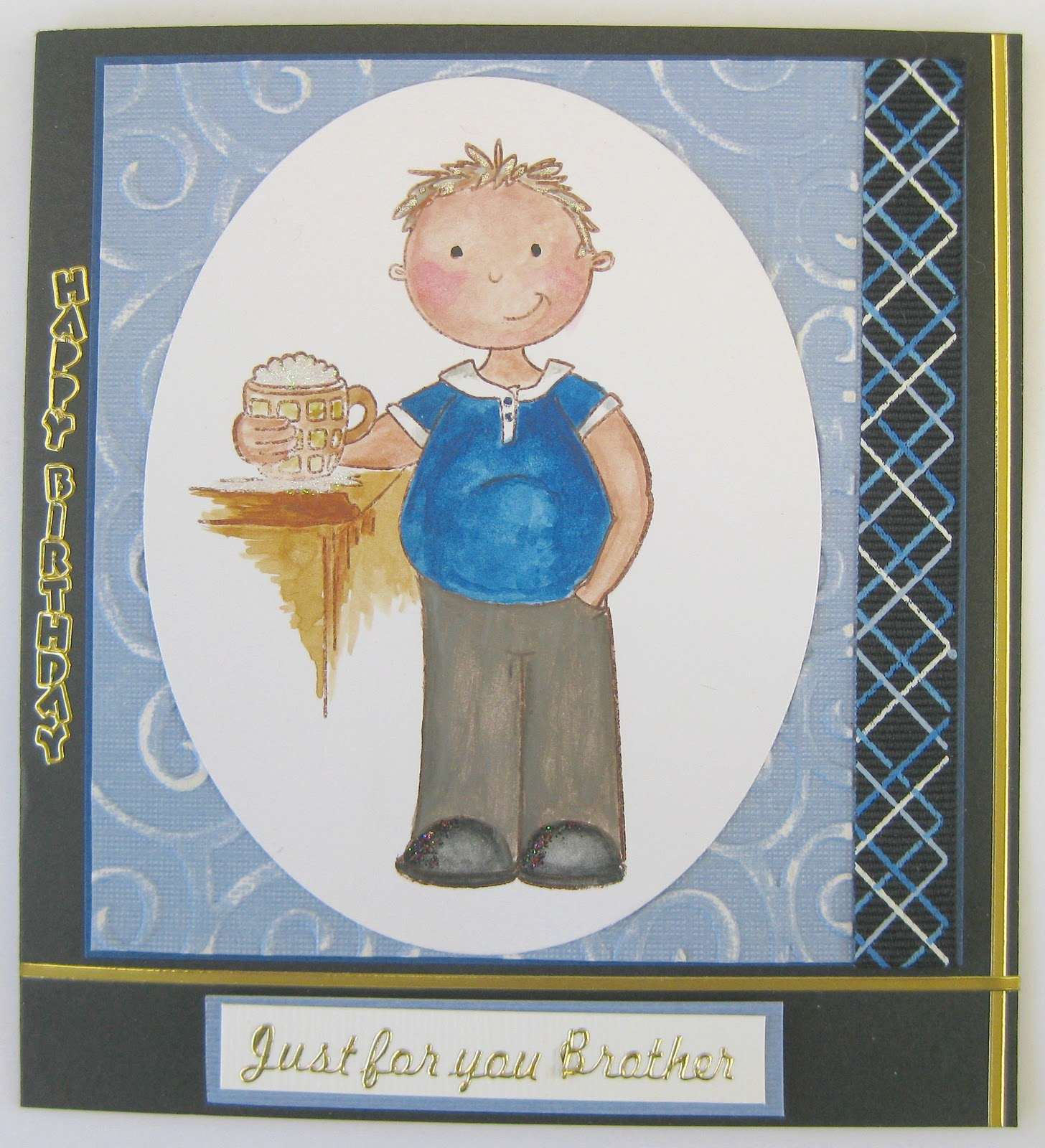 Fayes Paper Passion Male Birthday Card – Masculine Birthday Card