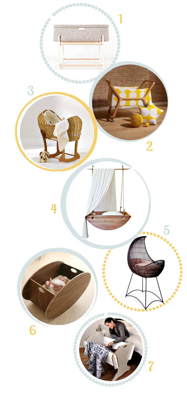 the most beautiful cribs and moses baskets for newborns