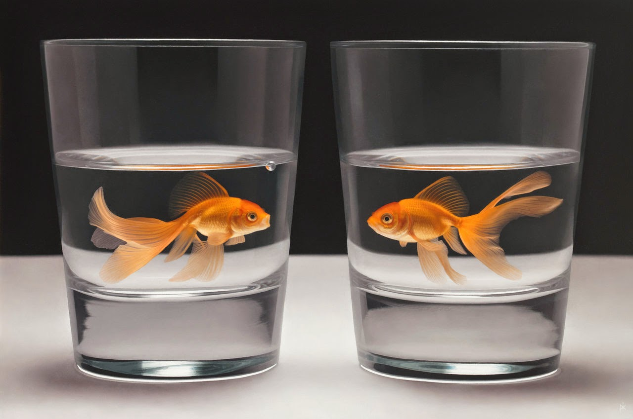 13-The-Optimist-and-The-Pessimist-Patrick-Kramer-Hyper-Realistic-Paintings-www-designstack-co