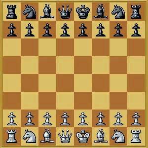 Tablero ajedrez y piezas