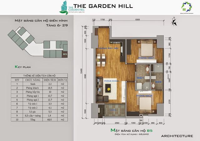 căn b5 chung cư the garden hill