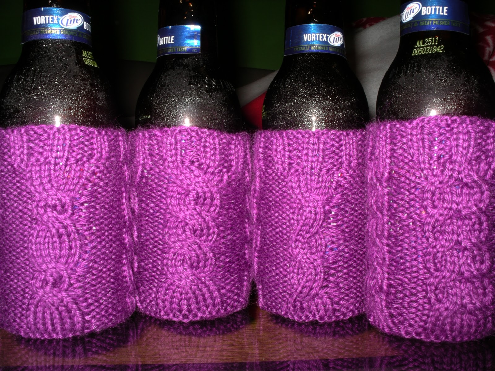 Knit Koozie Pattern : Will Knit For Beer: Beer Koozie Patterns