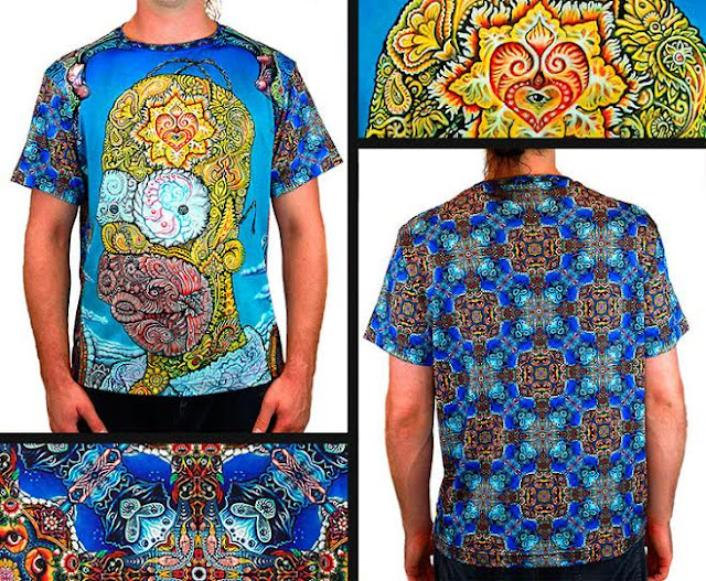 Psychedelic Homer shirts from Visionlab