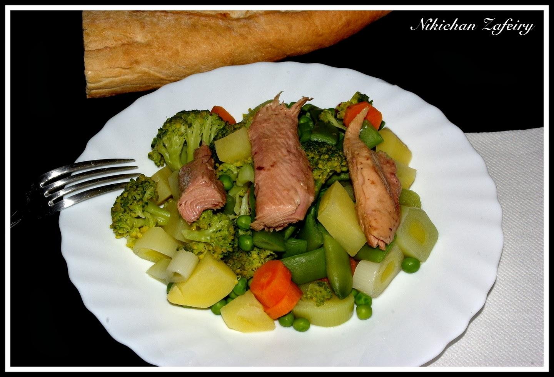 Menestra de verduras casera con melva recetas de una - Como preparar menestra de verduras ...