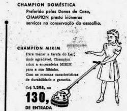 Propaganda da enceradeira voltada para as filhas das donas de casa.