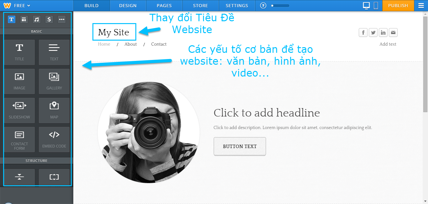 Cach lam website bang weebly