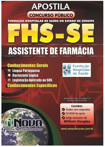 Apostila FHS sergipe Assistente de Farmácia Unidades Hospitalares e Administrativas de Sergipe