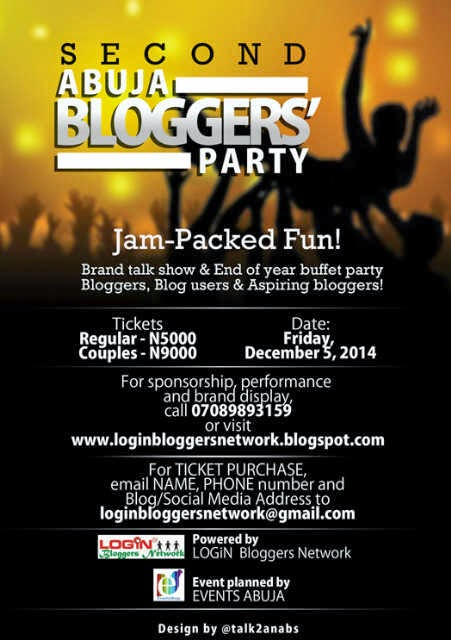 Buy Tickets for Abuja Bloggers Party