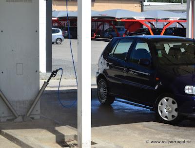 как помыть машину в Португалии