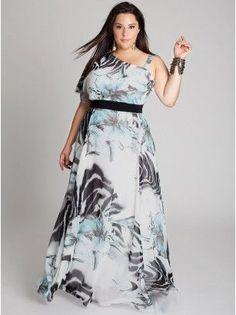 vestido longo estampado para gordinhas