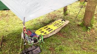 Klymit Inertia X-Frame Mat- Camping Setup with Tarp