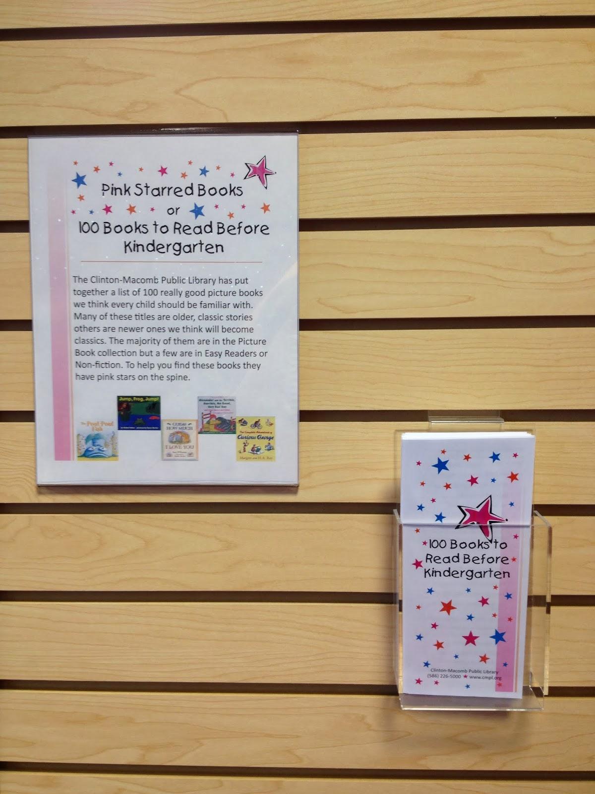 libraryland 100 books to read before kindergarten. Black Bedroom Furniture Sets. Home Design Ideas